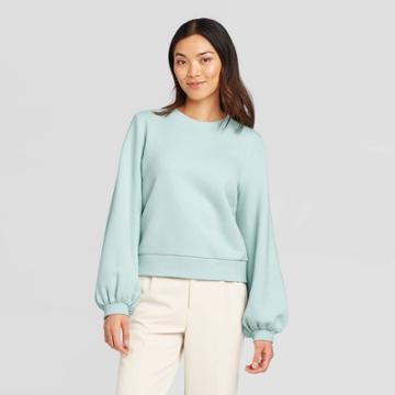 Women's Crewneck Pullover - A New Day Light Blue S, Women's,