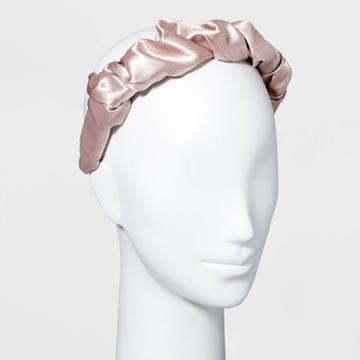 Satin Puff Scrunch Headband - A New Day Tan