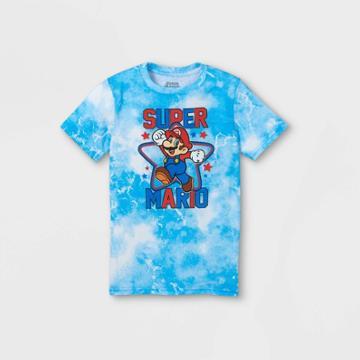 Nintendo Boys' Super Mario Short Sleeve Graphic T-shirt - Blue
