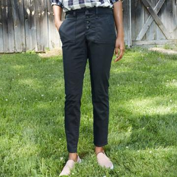 Women's Mid-rise Casual Fit Utility Skinny Ankle Jeans - Universal Thread Black