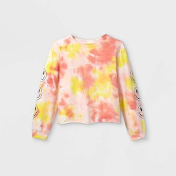 Girls' Graphic Long Sleeve T-shirt - Art Class Orange