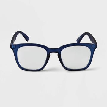 Men's Square Blue Light Filtering Glasses - Goodfellow & Co Blue