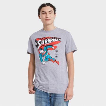 Men's Dc Comics Superman Short Sleeve Graphic T-shirt - Heather Gray