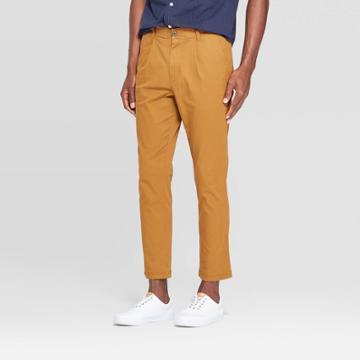 Men's Regular Fit Chino Pants - Goodfellow & Co Gingerbread Brown