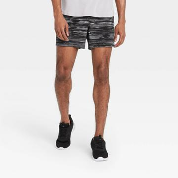 Men's 5 Spacedye Print Lined Run Shorts - All In Motion Navy Heather