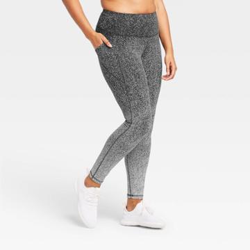 Women's Premium High-rise Jacquard 7/8 Leggings 27 - All In Motion Black Ombre