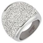 Elya Stainless Steel Crystal Cocktail Ring (6),