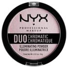 Nyx Professional Makeup Duo Chromatic Powder Lavender Steel - 0.21oz,