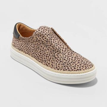 Women's Kalliope Leopard Slip On Sneakers - Universal Thread Brown