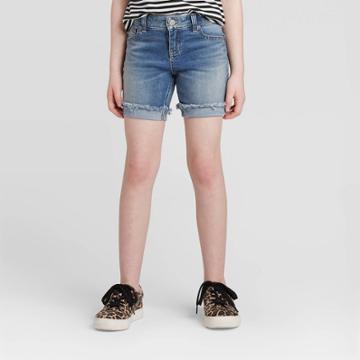 Girls' Midi Jean Shorts - Cat & Jack Medium Wash Xs, Girl's,