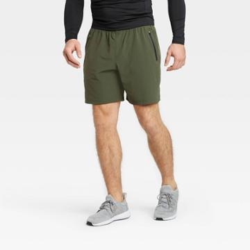 Men's Stretch Woven Shorts - All In Motion Olive Green S, Men's, Size: Small, Green Green