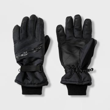 Men's Ski Glove Gloves - Goodfellow & Co Black