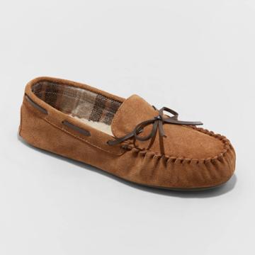 Men's Topher Moccasin Slippers - Goodfellow & Co Dark Chestnut