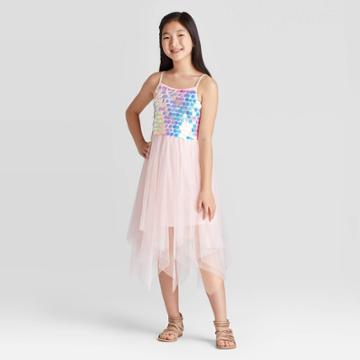 Girls' Payette Sequin Dress - Cat & Jack Blush Xxl, Girl's, Pink