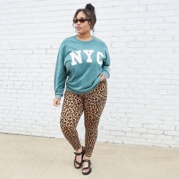 Women's Plus Size Oversized Sweatshirt - Nyc Graphic - Wild Fable Dark Green