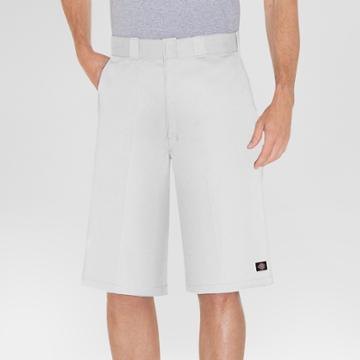 Dickies Men's Big & Tall 13 Loose Fit Multi-use Pocket Work Short - White
