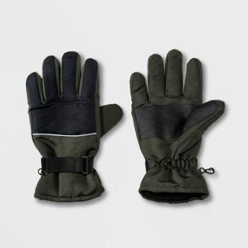 Men's Ski Glove Gloves - Goodfellow & Co Olive (green)/black