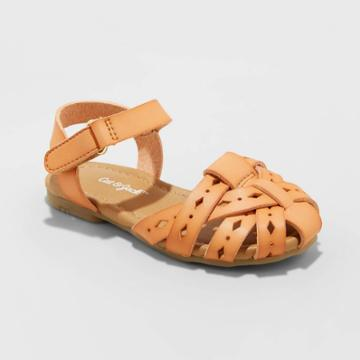 Toddler Girls' Elysia Huarache Sandals - Cat & Jack Cognac 5, Toddler Girl's, Brown