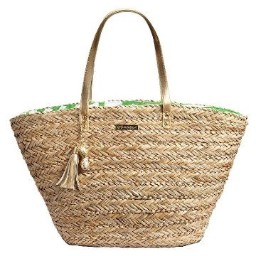 Lilly Pulitzer For Target Women's Straw Tote Bag - Boom Boom