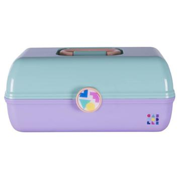 Retro Caboodles On The Go Girl Case Seafoam Lid And Lavender Base, Adult Unisex