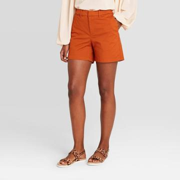 Women's Chino Shorts - A New Day Rust