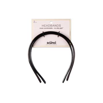 Conair Scunci No Slip Most Comfortable Headband - 2pc - Black, Adult Unisex