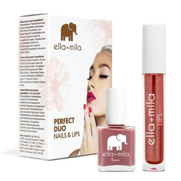Ella+mila Perfect Duo Lip Lacquer & Nail Polish Set Unwrap Me + You Red My Mind - 0.59 Fl Oz, Adult Unisex