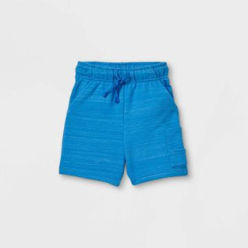 Toddler Boys' French Terry Cargo Pull-on Shorts - Cat & Jack Blue