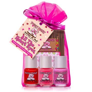 Piggy Paint Nail Polish Set - All The Heart Eyes - 3pk/0.25 Fl Oz Each +
