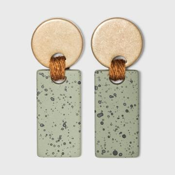 Disc And Speckled Bar Drop Earrings - Universal Thread