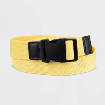 Men's 35mm Stretch Web Buckle Belt - Goodfellow & Co Yellow