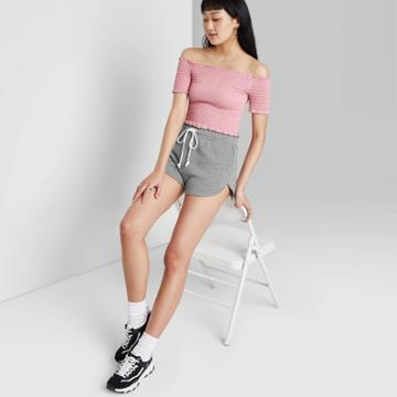 Women's High-rise Dolphin Shorts - Wild Fable Gray