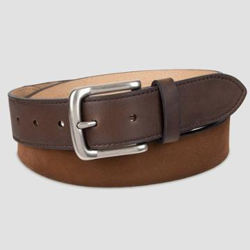 Men's 35mm Suede Belt With Tonal Tab And Tip - Goodfellow & Co Tan M, Men's, Size: