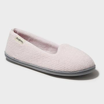 Women's Dearfoams Chenille Wide Width Closed-back Loafer Slippers - Pink Xlw (11-12), Pale Pink