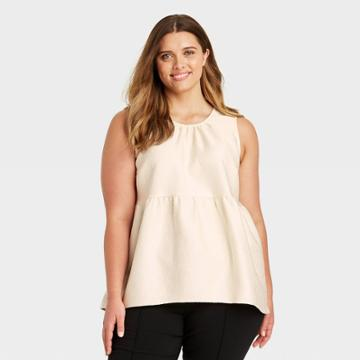 Women's Plus Size Tank Top - Who What Wear Off-white