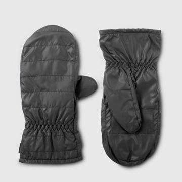 Isotoner Women's Insulated Recycled Mitten With Touchscreen Technology - Black