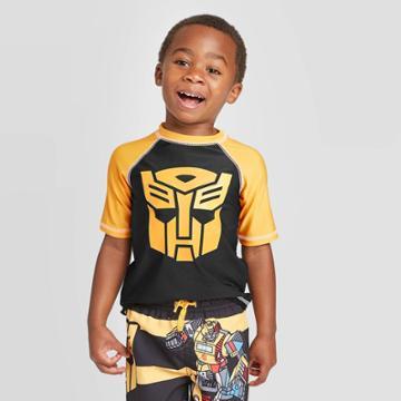 Toddler Boys' Transformers Rash Guard - Yellow 2t, Toddler Boy's,