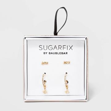 Sugarfix By Baublebar Embellished Delicate Earring Set - Gold, Women's, Size: