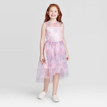 Zenzi Girls' Floral Dress - Blush Xxl, Girl's, Pink