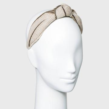 Raffia Stitch Knot Headband - A New Day Ivory