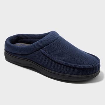Dluxe By Dearfoams Men's Berto Clog Slipper Deluxe By Dearfoams - Navy Xl (13), Black Blue