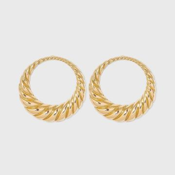 Large Shrimp Hoop Earrings - A New Day Gold