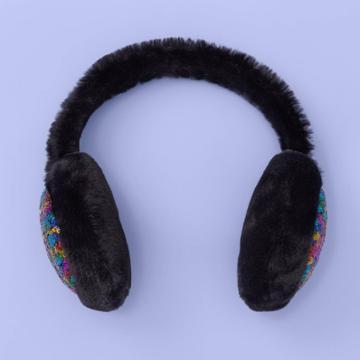 Girls' Sequin Earmuffs - More Than Magic Black, Girl's