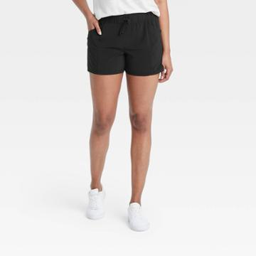 Women's Stretch Woven Shorts - All In Motion Black