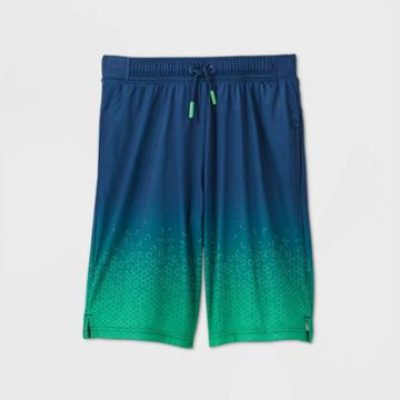 Boys' Geometric Ombre Performance Shorts - All In Motion Green