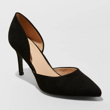 Women's Lacey Wide Width D'orsay Heel Pumps - A New Day Black