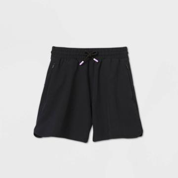 Girls' Quick Dry Board Shorts - All In Motion Black