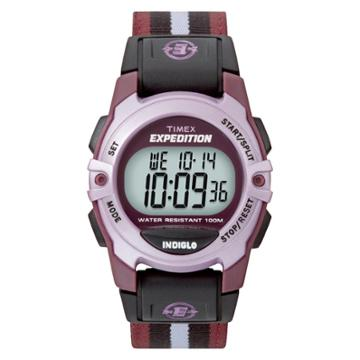Timex Expedition Digital Watch With Nylon Strap - Purple T49659jt, Black