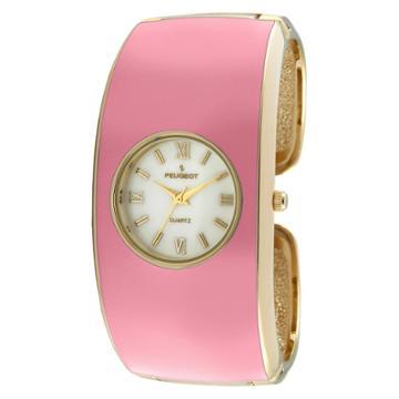 Peugeot Watches Women's Peugeotenamel Cuff Watch - Pink