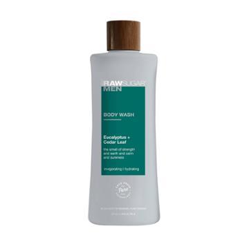 Raw Sugar Men's Body Wash Eucalyptus + Cedar Leaf - 25 Fl Oz,